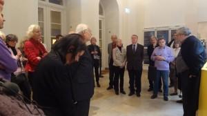 Professor Siebenmorgen (rechts), Direktor des Badischen Landesmuseums, begrüßte die Alumni.