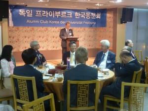 Die Freiburger Wirtschaftsdelegation zu Gast beim koreanischen Alumni-Club (Foto: Braun - Sparkasse  FR)