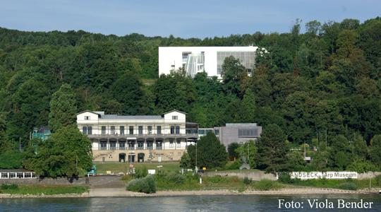 Bahnhof Rolandseck und der Neubau. Foto: Viola Bender