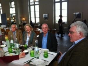 Clubvorstand Hans Stalf (r.)  und Günther Mantell ließ das Treffen gemütlich ausklingen.