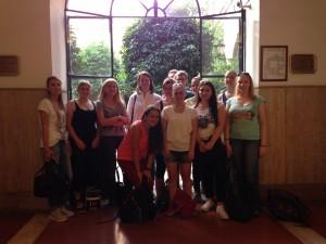 Die Teilnehmer der Exkursion in Rom.