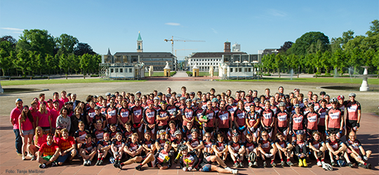Die Teilnehmer der Tour Eucor 2015 (Foto: Tanja Meißner)