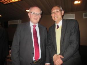 Volker Kauder, MdB, und Professor Masahisa Deguchi in Kyoto. (Foto: Privat)