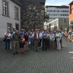 Der Club Rheinland bei seiner Besichtigungsreise durch Aachen. [Foto: privat]