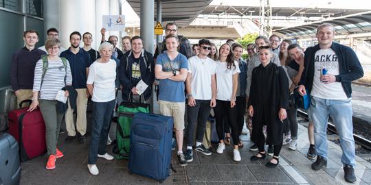 Verabschiedung Exkursion nach Polen am Samstag (03.06.2017) auf dem Hauptbahnhof.