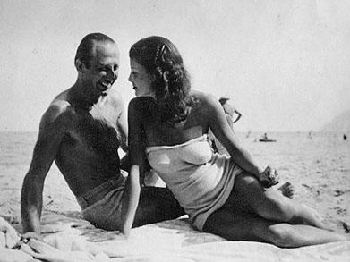 Dušan Popov mit Ehefrau Janine