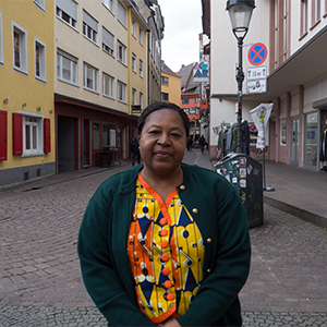 Marie Claudine Zangna in Freiburg (Foto: Alumni Freiburg)