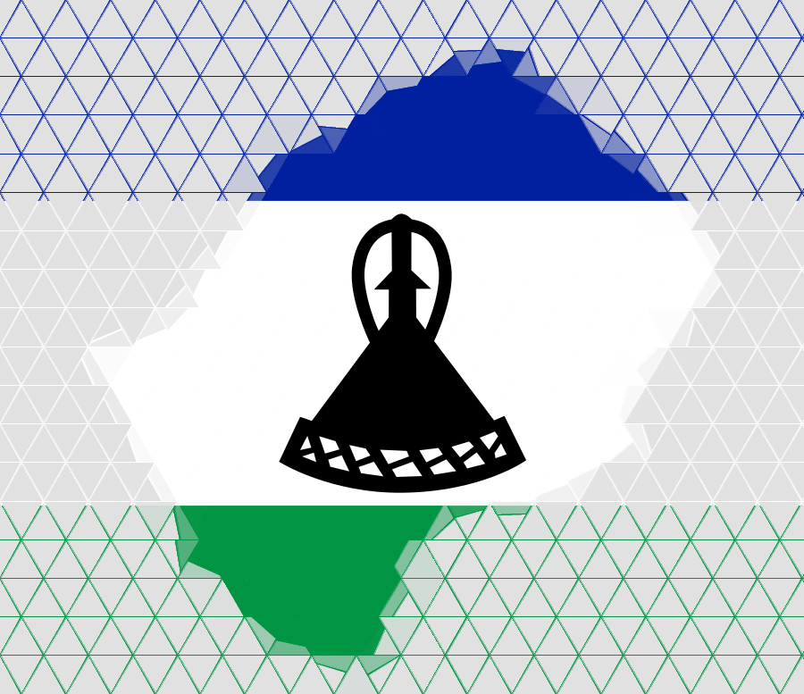 Karte von Lesotho